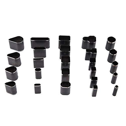 25 Form Stil Leder One Hole Punch Cutter Tools Set für handgemachte DIY Handwerk Leder