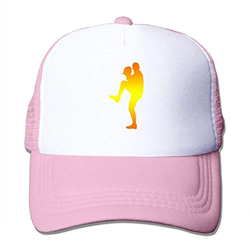 deyhfef Baseball Silhouette Print Adjustable Trucker Sun Hats Mesh Sports Baseball Caps ()