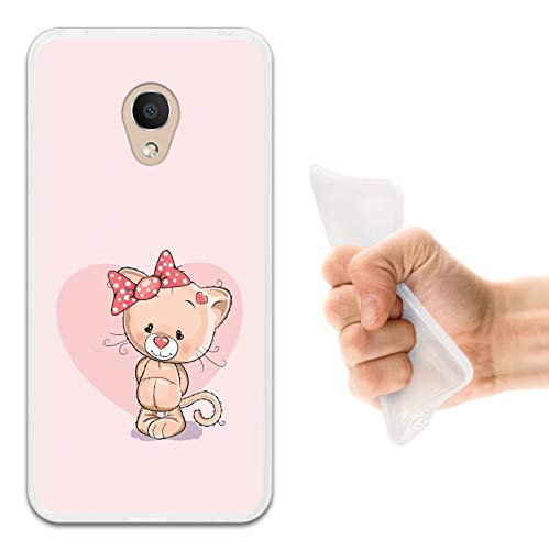 WoowCase Alcatel 1C DUAL SIM Hülle, Handyhülle Silikon für [ Alcatel 1C DUAL SIM ] Liebe Katze Handytasche Handy Cover Case Schutzhülle Flexible TPU - Transparent