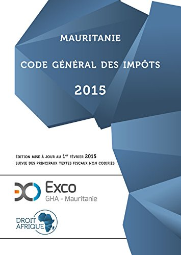 Mauritanie, Code General des Impots 2015