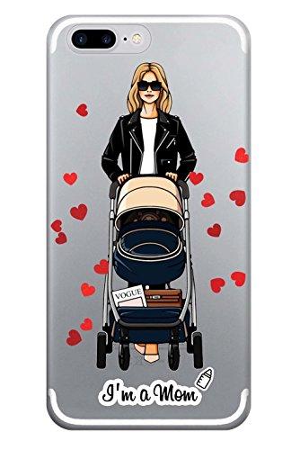 blitzversand Handyhülle Girly Mädchen kompatibel für Samsung Galaxy S5 I am a Mom Schutz Hülle Case Bumper transparent M5