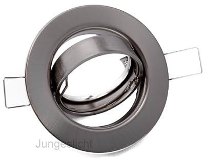 LED & Halogen Decken Einbau Einbaustrahler Tommy edelstahl gebürstet (ohne Leuchtmittel) + GU10 230V & GU5.3 MR16 12V Fassung (Einbauspot Einbaurahmen Einbauring)
