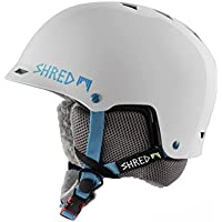 Shred Half Brain Flurry Casco de esquí, snowboard, Otoño-invierno, unisex, color blanco, tamaño (M+)L/XL
