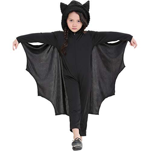 Tanz Modellierung Kostüm - GJ688 Jungen und Mädchen Kinderleistungen Overall Tier Fledermaus Modellierung Kostüme Halloween-Party Rollenspiele Kostüme, Schwarz,C,M