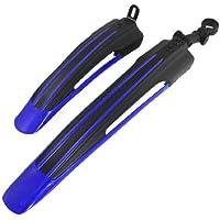 TOOGOO(R)Reemplazo Guardabarros defensa trasero delantero de bicicleta MTB Negro Azul