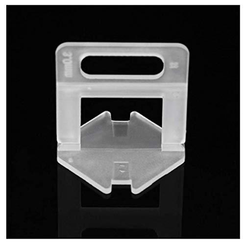 Générique 100 pcs 1/1,5/2/2,5/3 mm jetables Transparent Croisillons pour carrelage Système de nivellement Clips Outils de carreleur – 3 mm 2mm