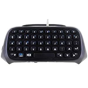 Skque® Mini clavier sans fil Bluetooth avec micro intégré et haut-parleur pour Sony PlayStation 4 contrôleur