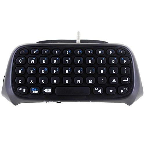 Skque® Mini Drahtlose Bluetooth Wireless Tastatur mit eingebautem Mikrofon und Lautsprecher für Sony PlayStation 4 PS4 Controller (Tastatur Wireless Mit Lautsprecher)