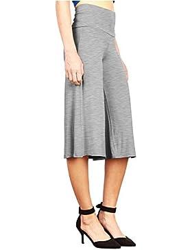Falda-Pantalón Happy Lily para mujer talle alto, diseño culotte y palazzo en la pierna, pantalones de yoga, mujer...