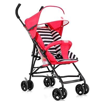 YC electronics Sillas de Paseo Cochecito de bebé Ligero Plegable Simple Portátil Baby out Ultra Light Puede Sentarse en Verano Transpirable Sillas Ligeras
