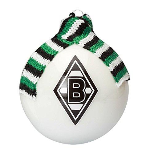Borussia Mönchengladbach Weihnachtskugel, Christbaumkugel mit Schal XXL, Plus Gratis Lesezeichen I Love Mönchengladbach