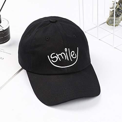 hat-maihef Cappello Femminile Estate Coreano Casual Selvaggio Sorriso Faccia Ricamo Baseball Piega 檐 Cappuccio Marea Nera Regolabile