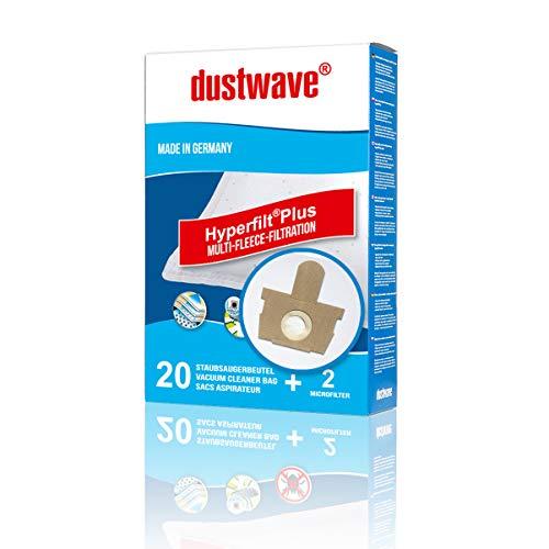 20 Staubsaugerbeutel + 2 Filter für ROWENTA Silence Force Extreme RO 5629, RO 5635, RO 5727, RO 5762, RO 5787 RO 5820, RO 5821, RO 5823, RO 5825, RO 5833, RO 5921 komp. SWIRL R 36, R36 von dustwave®