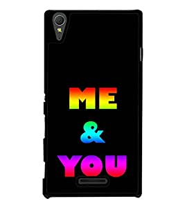 Colourful Me & You 2D Hard Polycarbonate Designer Back Case Cover for Sony Xperia T3