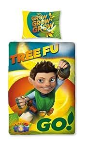 Character World 135 x 200 cm Tree Fu Tom Leaves Single Panel Duvet Set, Multi-Color