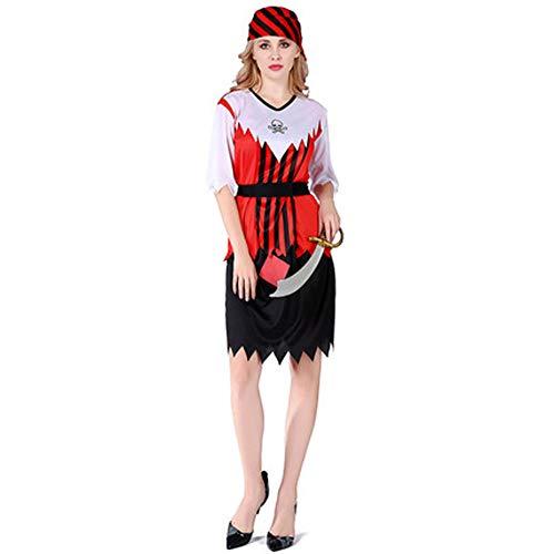 Holloween Kostüm Piraten - Tik Halloween Kostüm/Geburtstagsparty Cosplay Outfit - Gruseliges Piraten Halloween Kostüm für Herren,3