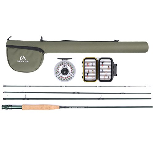 Maxcatch Explorer Fly Fishing Combo Kit 3/5/6/8 peso Fly Rod y carrete Outfit (5wt Rod Combo)