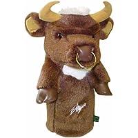 Winning Edge Sergio-Funda para Palo de Golf, diseño de búfalo de Peluche marrón Marrone - Marrone