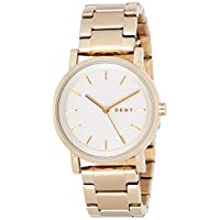 DKNY Womens Quartz Watch, Analog Display and Stainless Steel Strap NY2343