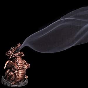 Resin Copper Look Dragon Incense Cone Holder