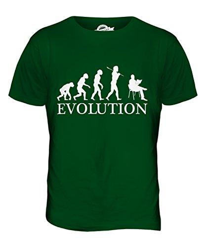 CandyMix Lesen Evolution Des Menschen Herren T Shirt Flaschengrün