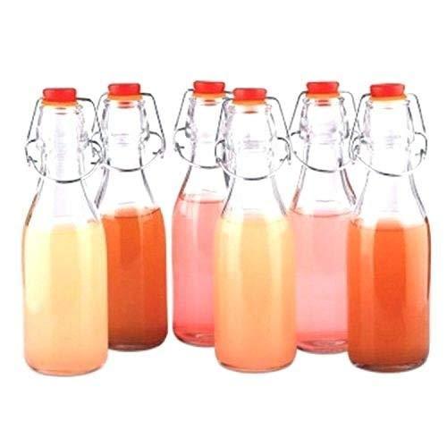 Pack 12 Botellas de Vidrio Herméticas Con Tapón Preservar Líquidos por Kurtzy - Botellas 100ml -3,3oz Transparentes para Bebidas Hechas en Casa, Cerveza, Vino, Condimentos y Más - Cierres Herméticos