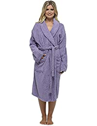Ladies Robe Luxury Terry Towelling 100% Cotton Dressing Gown Bathrobe Perfect Christmas Gift