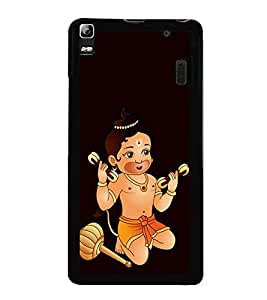 printtech Baby Kid Lord Hanuman Back Case Cover for Lenovo A7000