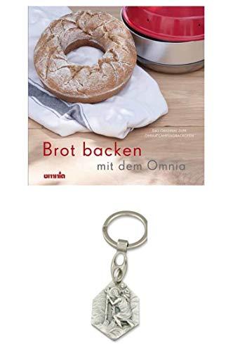 Zisa-Kombi Omnia Backbuch - Brot backen, 64 Rezepte für Brot u. Brötchen (932988922185) mit Anhänger Herz Jesu 2,5cm
