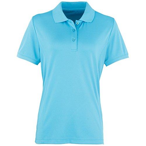 Premier Coolchecker - Polo à manches courtes - Femme Turquoise