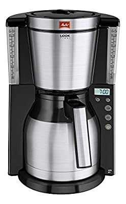 Melitta 1011-15 Look IV Thermal Timer Coffee Filter Machine, White_P