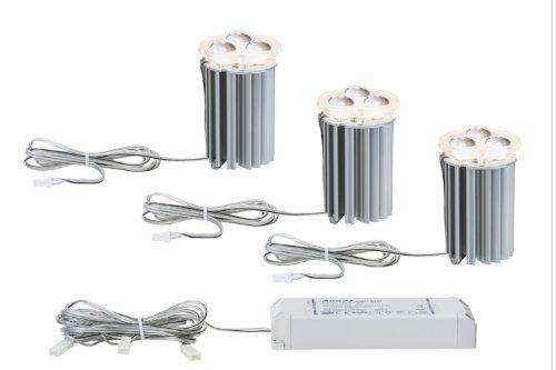 Paulmann 92607 2Easy Einbauleuchte / Einbaulampe Basis-Set LED 3x5W 16VA 51mm