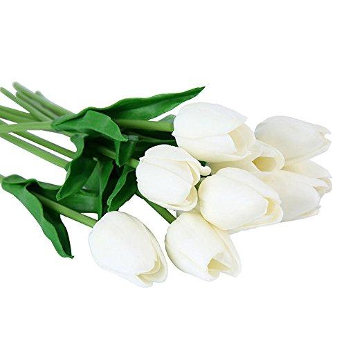 ShopSquare64 10PCS gefälschte künstliche Silk Tulpen Flores Artificiales Sträuße Partei künstliche Blumen für Haupthochzeits-Dekoration