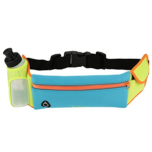 5 Farben Wasserdichte Tasche für Gürtel Hüfttasche für Reisen Aktivitäten Sport mit Flasche(5#) (Laufenden Flasche Band)