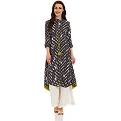 W for Woman Straight Kurta (17FE16506-58640_6_GREY)