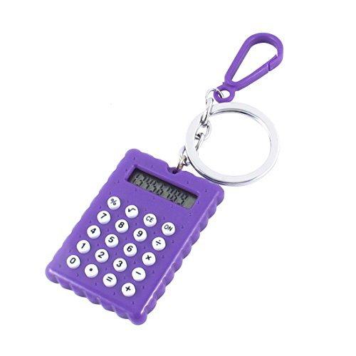Batteriebetriebene Rechner Split Schlüsselanhänger Schlüsselanhänger Schlüsselhalter Lila