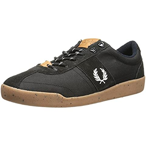 Fred Perry Stockport Nylon / Suede Black Mens Trainers