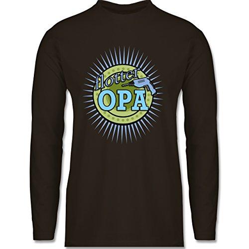 Shirtracer Opa - Flotter Opa - Herren Langarmshirt Braun