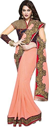 Mahotsav Women's Georgette Velvet & Nett Sarees ( 3716 )
