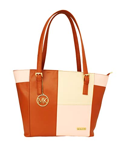 Michelle Kors Zoey Tan Color Imported Genuine leatherette Bag for Girls and Women