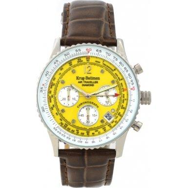 krug-baumen-400519ds-orologio-da-polso-cinturino-in-pelle-colore-giallo