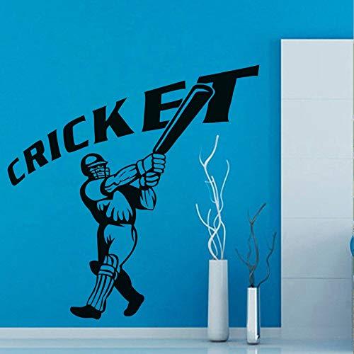 jiushizq Cricket teig DIY Kinderzimmer Bett Hintergrund Wandaufkleber Zitate PVC Wohnkultur 3D Selbstklebende Muster Dekoration Zubehör Schwarz 44 cm X 44 cm