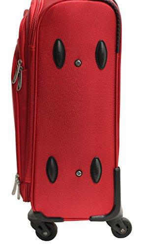 Kabinengröße Tasche Alistair One 55cm - Nylon Canvas Ultra Light - 4 Räder - Schwarz Rot