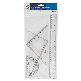 Zestaw kreslarski Beifa-Aplus+ z linijka 30 cm 12 sztuk