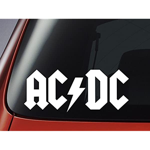 Bands Decals AC-DC Automotive Decal//Bumper Sticker