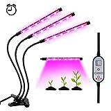 Lámpara LED Plantas Crecimiento Interior YOUTHINK 36W Luz Cultivo Grow Lights Indoor Luces Dimmable (Enchufe EU de 2 Pin) [Clase de eficiencia energética A+++] (36W)
