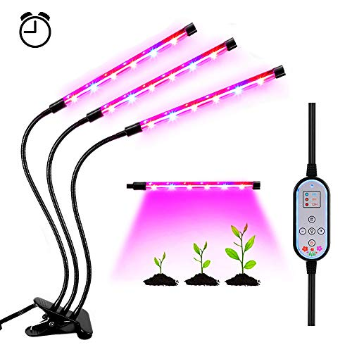 Lámpara LED Plantas Crecimiento Interior YOUTHINK 36W Luz Cultivo Grow Lights Indoor Luces Dimmable (Enchufe EU de 2 Pin) [Clase de eficiencia energética A+++] (36W)