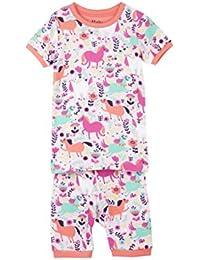 Hatley Organic Cotton Short Sleeve Printed Pyjama Sets, Conjuntos de Pijama para Niñas