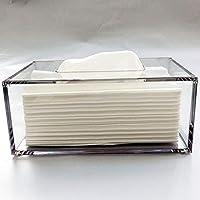 yakri Facial Tejido caja de pañuelos, soporte, dispensador de pañuelos de acrílico con funda