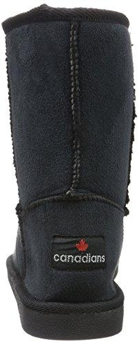 Canadians - Boots, Stivali a metà gamba con imbottitura pesante Donna Nero (Schwarz (000 BLACK))